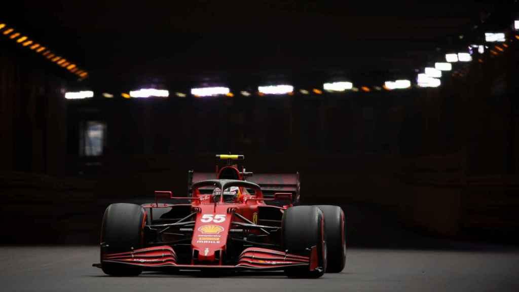 Carlos Sainz, en el circuito de Mónaco