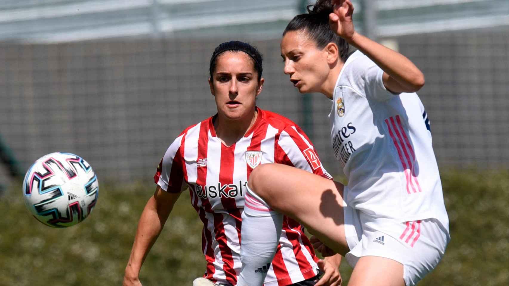 Aurelie Kaci, durante el partido frente al Athletic Club
