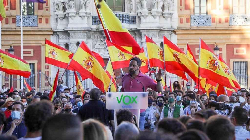 Mitin de Santiago Abascal este domingo en Sevilla.
