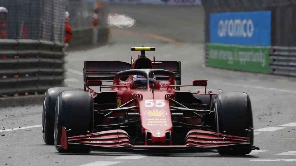 Carlos Sainz en el Gran Premio de Mónaco de Fórmula 1