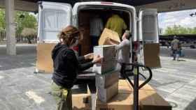 Distribución de material sanitario del Sescam. Foto: Junta de Comunidades de Castilla-La Mancha