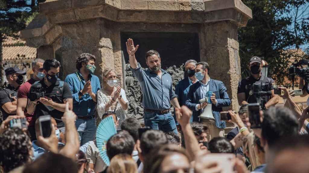 El líder de Vox, Santiago Abascal,  el pasado jueves en Ceuta.
