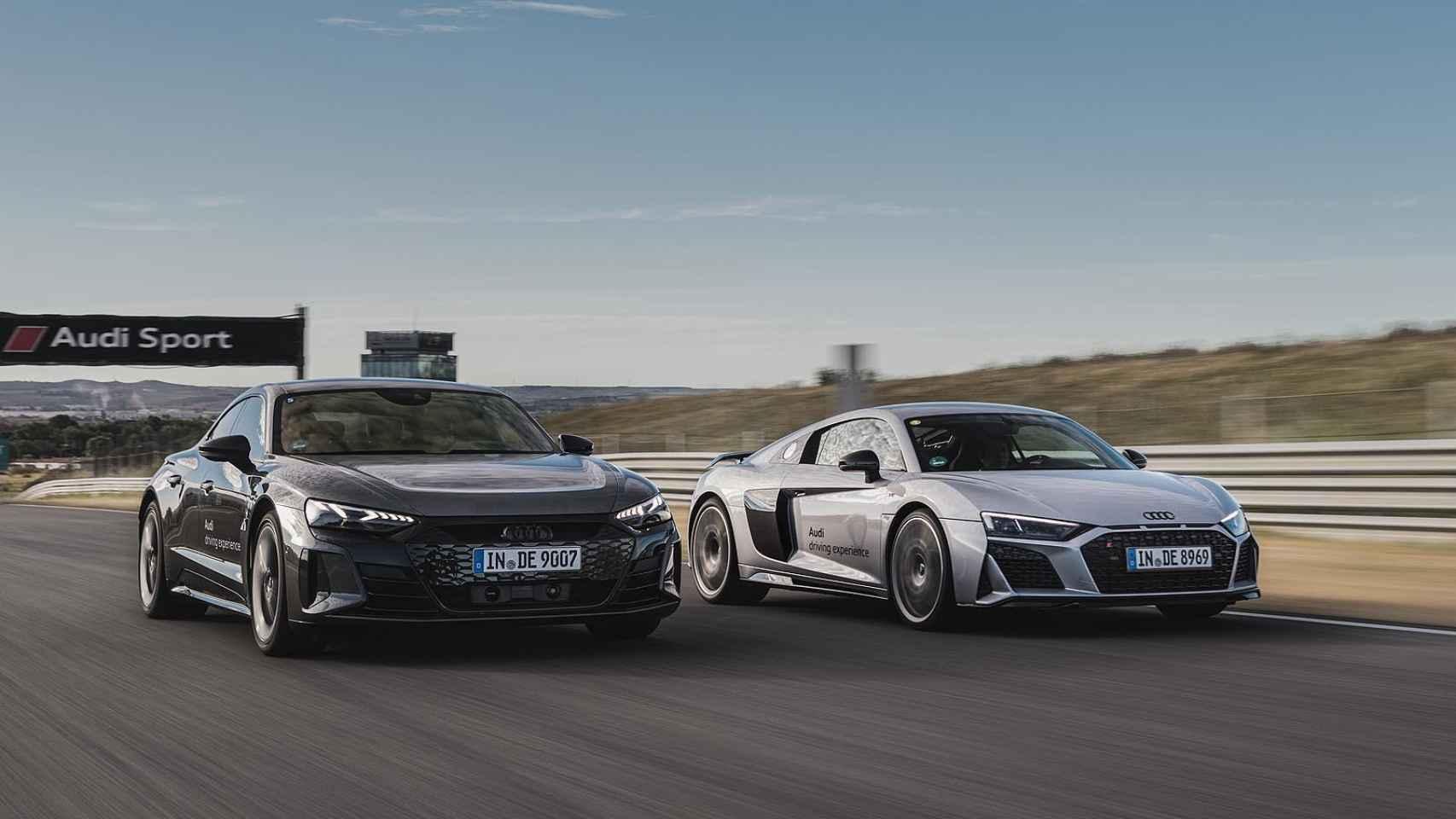 Así son los cursos de conducción del Audi Driving Experience; nos subimos al e-tron GT y al R8