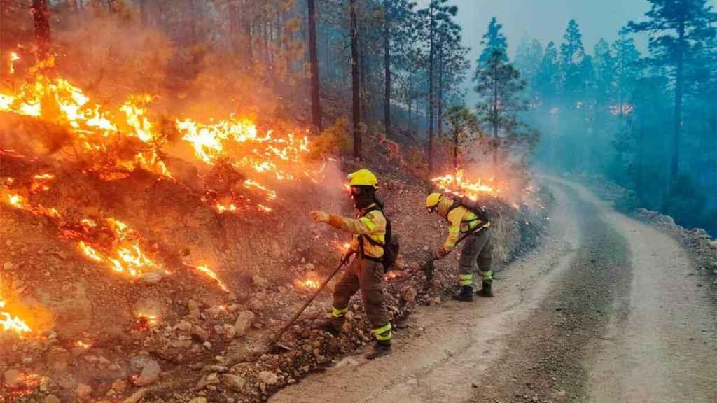 Operativo de extinción de incendios