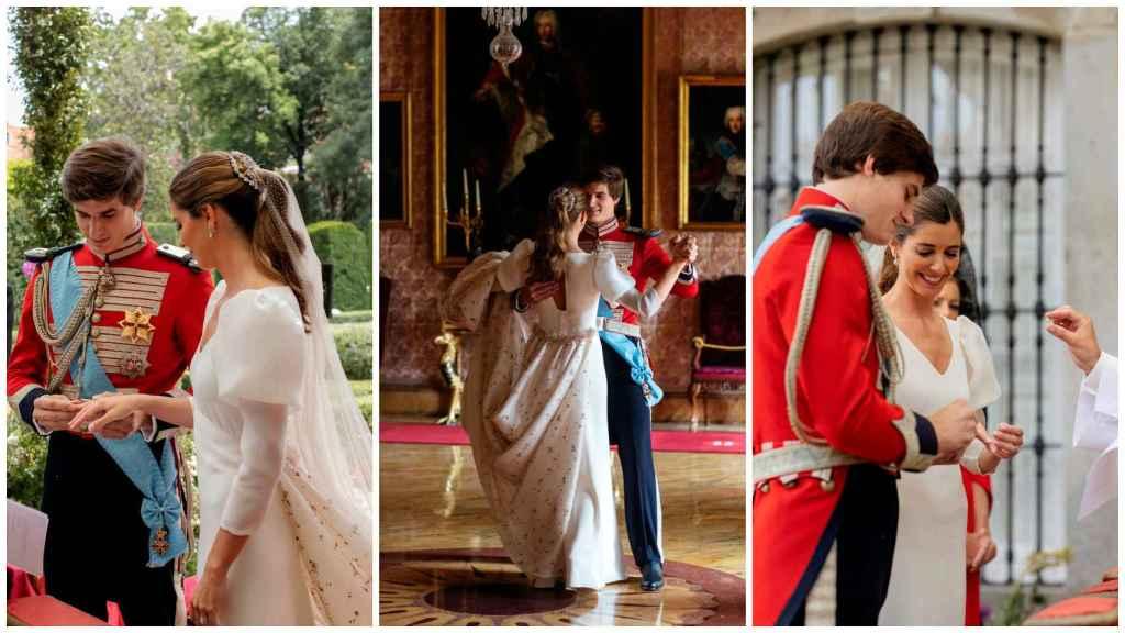 Algunos de los momentos más especiales de la boda: desde la ceremonia más rigurosa hasta el baile de los recién casados.