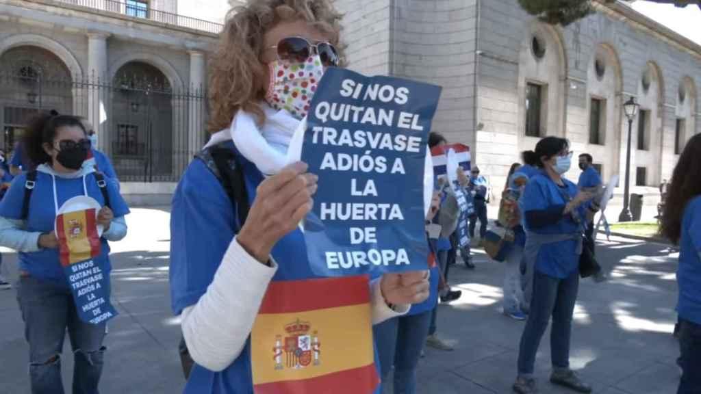 Manifestación en defensa del trasvase Tajo-Segura en Madrid