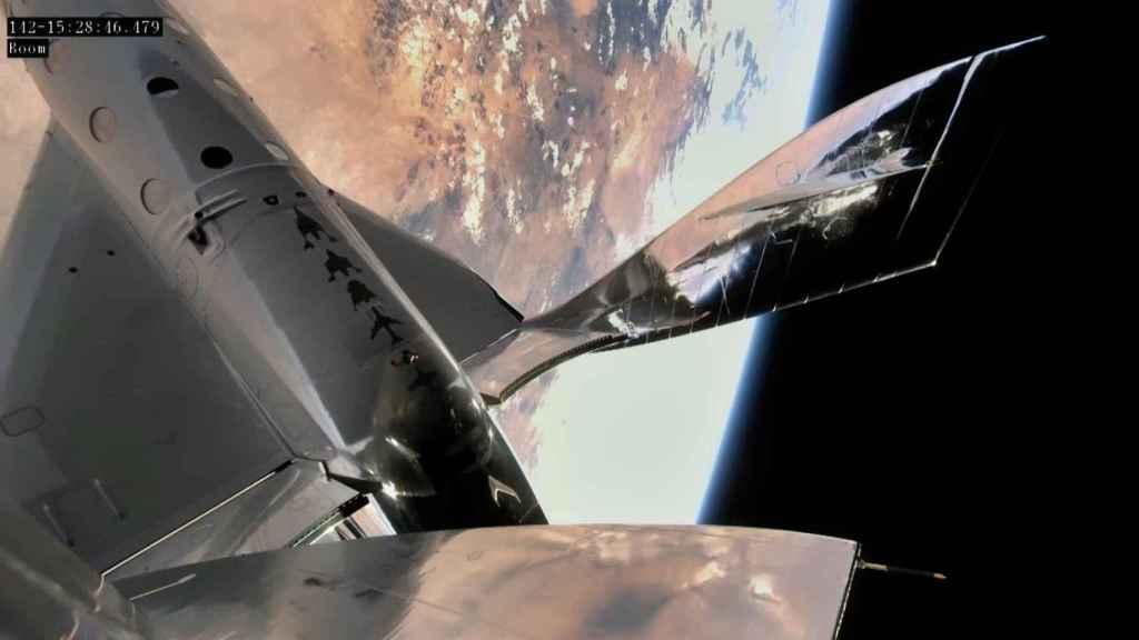VSS Unity en vuelo suborbital sobre Nuevo México