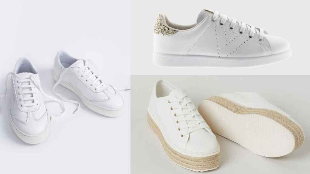With their multiple designs, the white and basic sneakers are positioned as the perfect option.