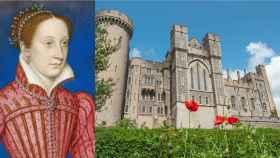 Retrato de María Estuardo y castillo de Arundel.