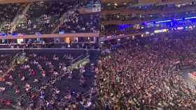 Las dos zonas separadas en el Madison Square Garden entre vacunados y no vacunados para la Covid-19