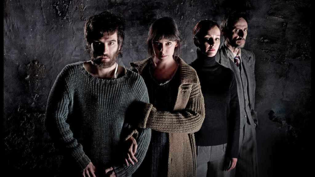 Los cuatro protagonistas de 'El hombre almohada'.