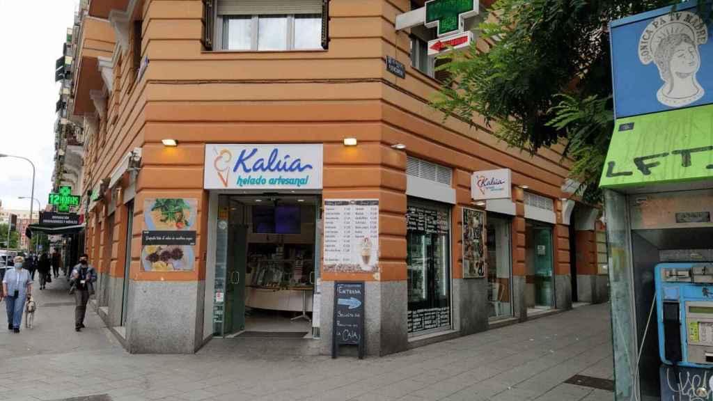 La heladería Kalúa, situada en el número 131 de la calle Fuencarral.