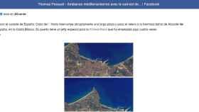 Post del astronauta francés de Facebook.