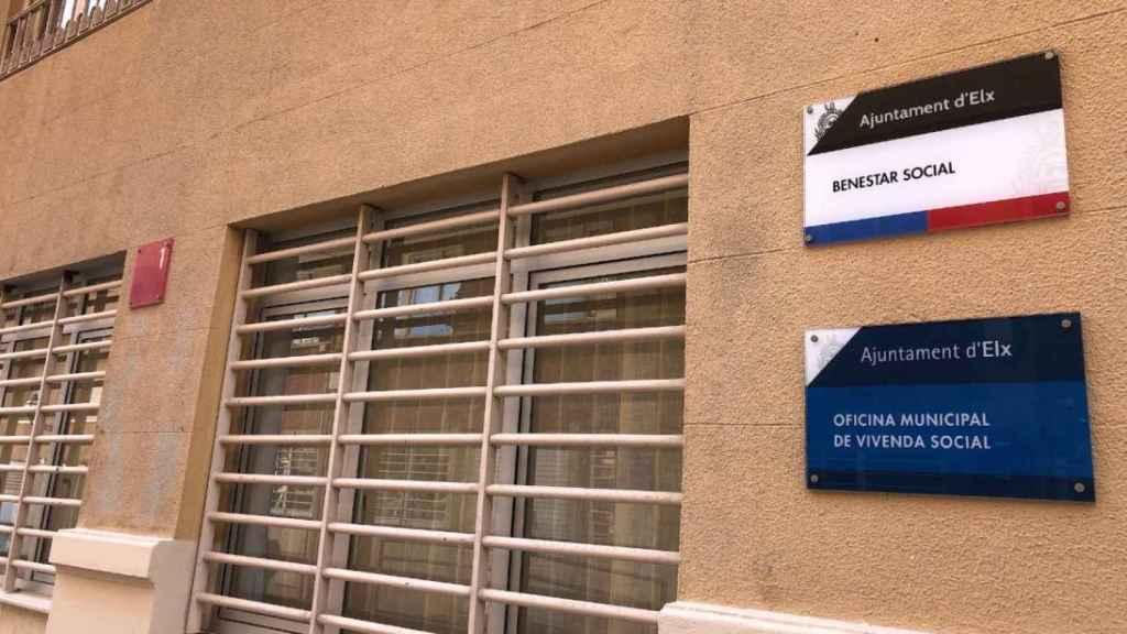 Fachada del área de Bienestar Social del Ayuntamiento de Elche.
