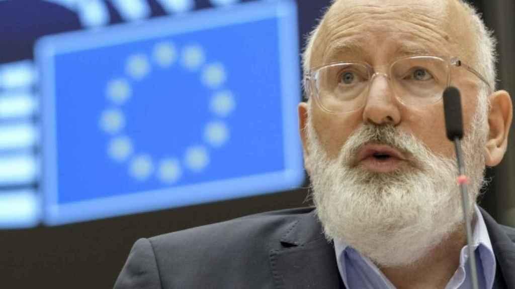 El vicepresidente de la Comisión Europea para el Pacto Verde Europeo, Frans Timmermans.