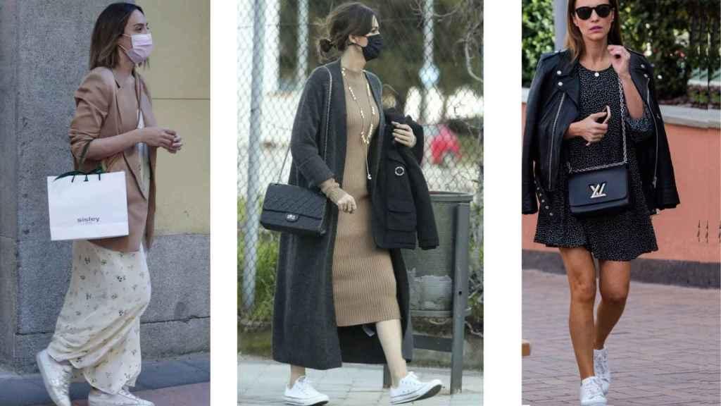 Zapatillas con vestidos,  cómo lucir  la moda que triunfa entre las 'celebrities'.