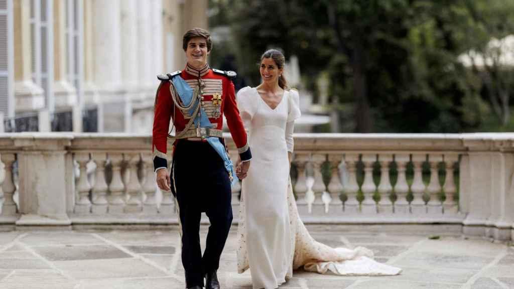 Carlos Fitz-James Stuart y Belén Corsini, el día de su boda |  Alejandra Ortiz (EFE)
