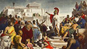 Pericles, dirigiéndose a los atenienses.