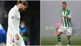 Sergio Ramos y Canales en un fotomontaje