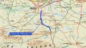 Plano de la actuación en carreteras de Toledo