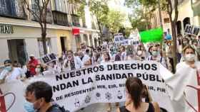 Imagen de archivo  manifestación de los residentes durante su recorrido por el centro de Madrid durante el mes de julio de 2020.
