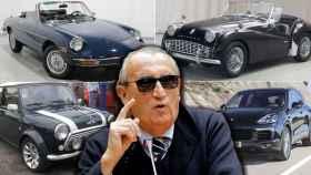 Modelos de Alfa Romeo, Triumph, Mini Cooper y Porsche utilizados por Fabra como dación en pago. EE