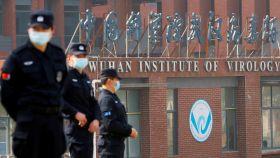 Instituto de virología de Wuhan, en la provincia china de Hubei, durante la visita de la OMS en febrero.