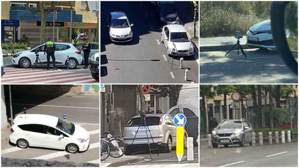 Algunos de los radares móviles avistados durante los últimos días en las ciudades españolas.