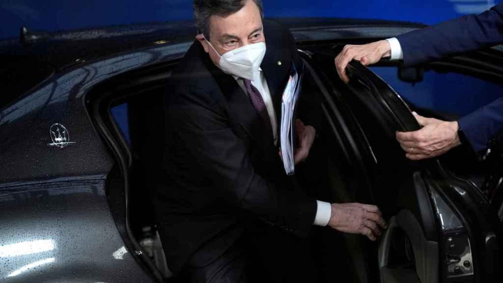 El primer ministro italiano, Mario Draghi, a su llegada a la cumbre de Bruselas