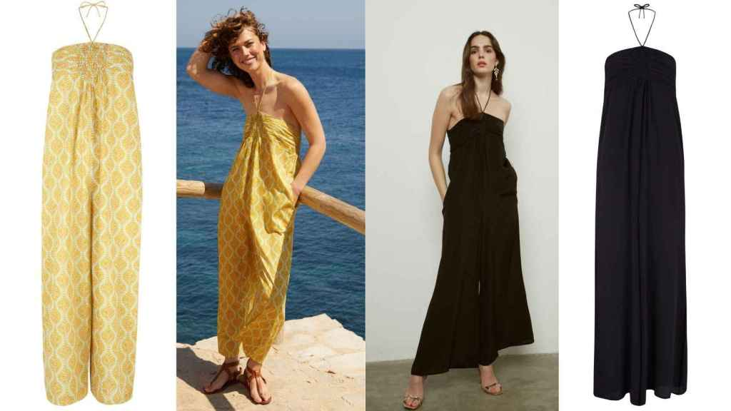 The 'Macarella' model (on the left) and the 'Fornells' long jumpsuit (on the right) are consolidated as his stylistic bet.
