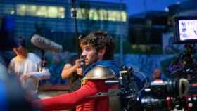 Una imagen del rodaje de la segunda temporada de 'El vecino'.