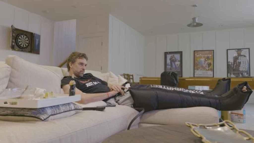 Pau Gasol, en su domicilio durante un tratamiento