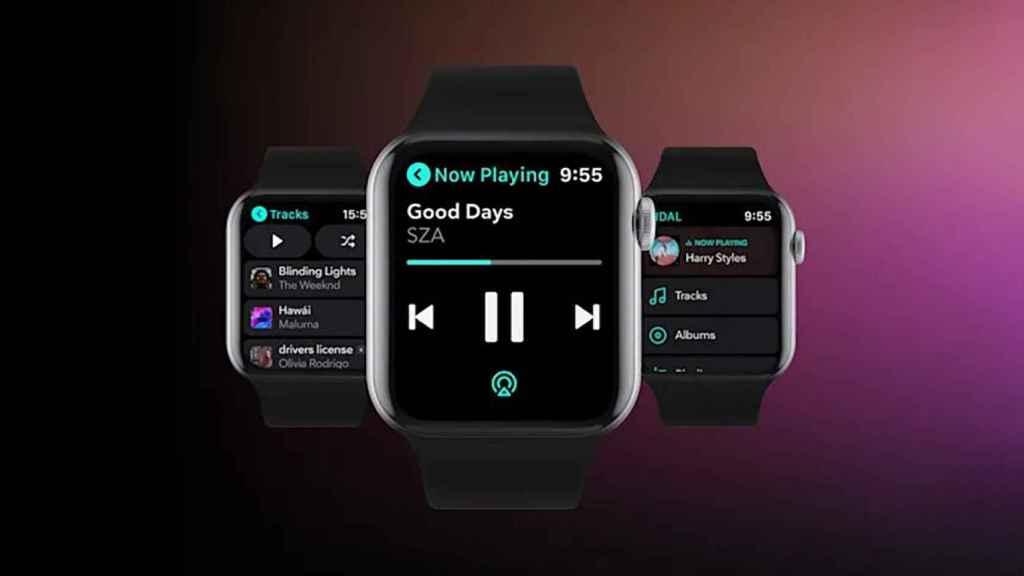 Tidal en un Apple Watch.