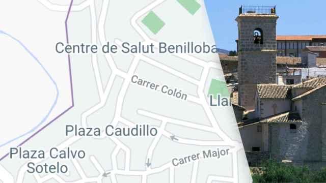 Imagen de Google Maps  en la que figuran las plazas con los nombres antiguos.
