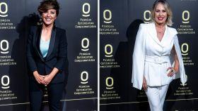 Sonsoles Ónega en montaje de JALEOS junto a Miriam Díaz-Aroca.