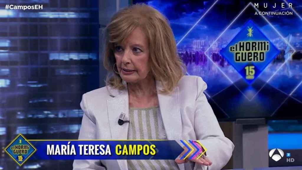 Teresa Campos hablando con Pablo Motos en Antena 3.