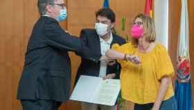 Firma del convenio entre Aguas de Alicante y el Ayuntamiento.
