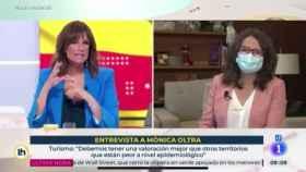 Mónica Oltra en su entrevista en televisión.