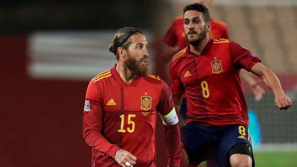Sergio Ramos y Koke Resurrección, en un fotomontaje