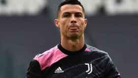 Cristiano Ronaldo, en un calentamiento con la Juventus