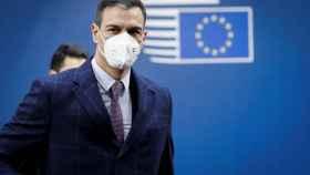 El presidente del Gobierno, Pedro Sánchez, este martes en la cumbre de Bruselas