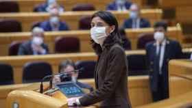 La presidenta del Senado, Pilar Llop, interviene durante la sesión de control.