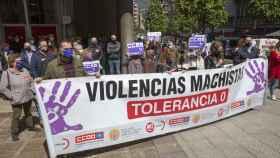 Imagen de la concentración en Oviedo en repulsa a los seis asesinatos machistas ocurridos esta semana.