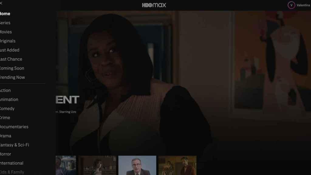 Captura de la aplicación HBO Max en iOs.