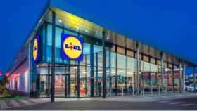 Fachada de uno de los supermercados de Lidl.