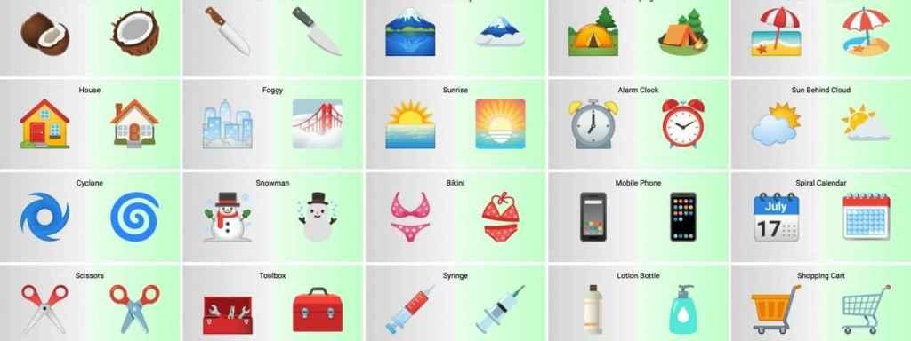 Android 12 emojis diseño