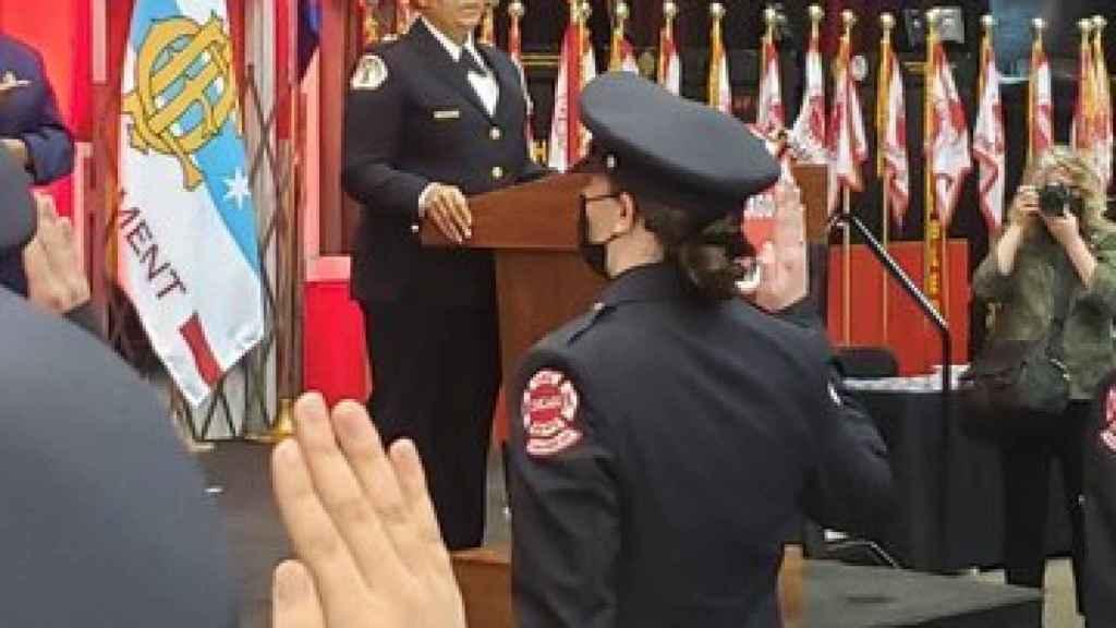 Durante el anuncio de la nominación a Annette Nance-Holt como la próxima comisionada de bomberos de CFD.