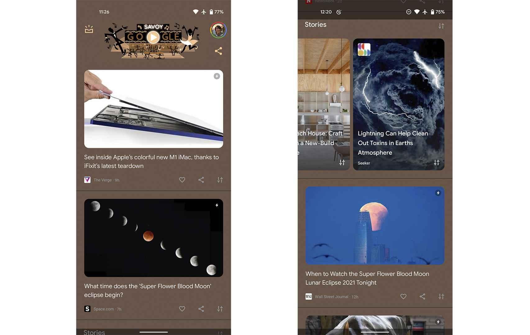 Así se ve el toque Android You en Discover