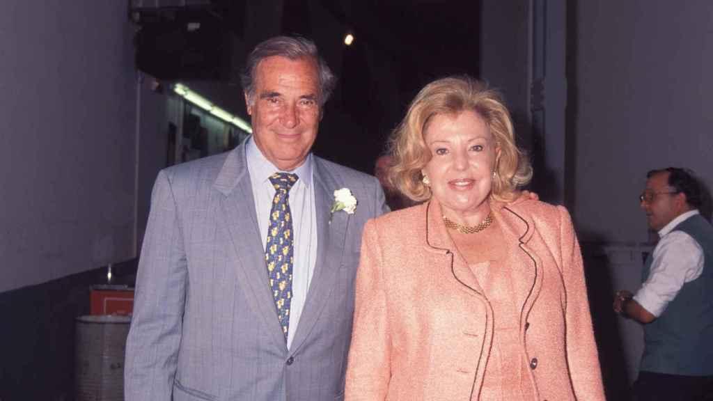 Los padres de la actriz Ana García Obregón en una imagen fechada en enero de 2000.