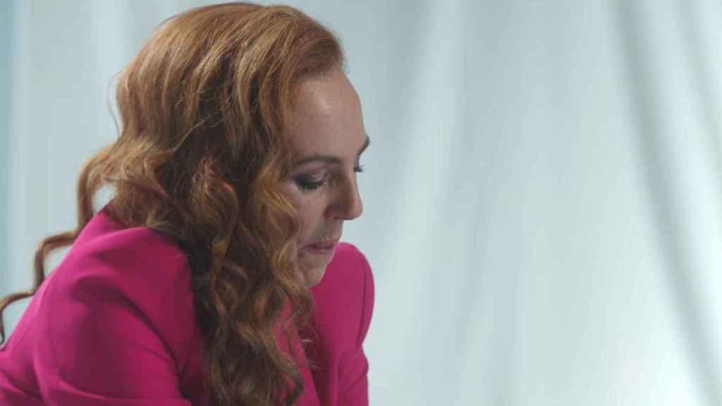 Rocío rememorando el salto reciente de su hija en la televisión.